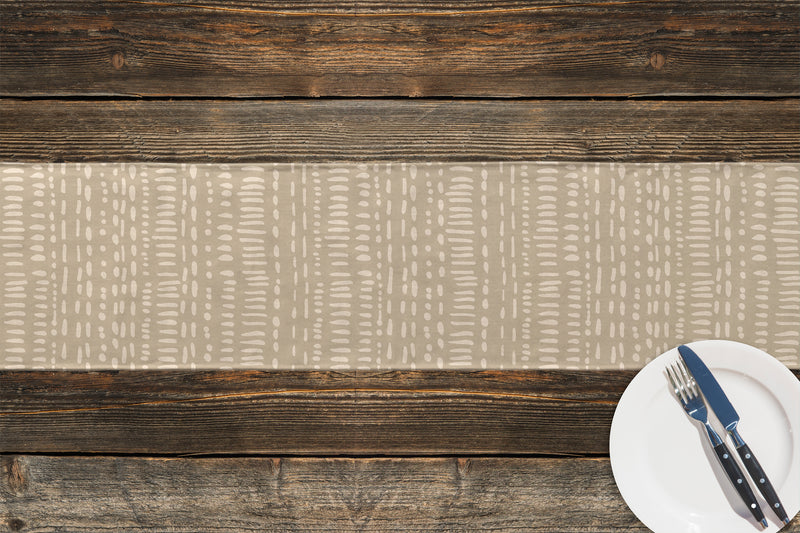 TRIBAL DANCE BEIGE Table Runner By Kavka Designs