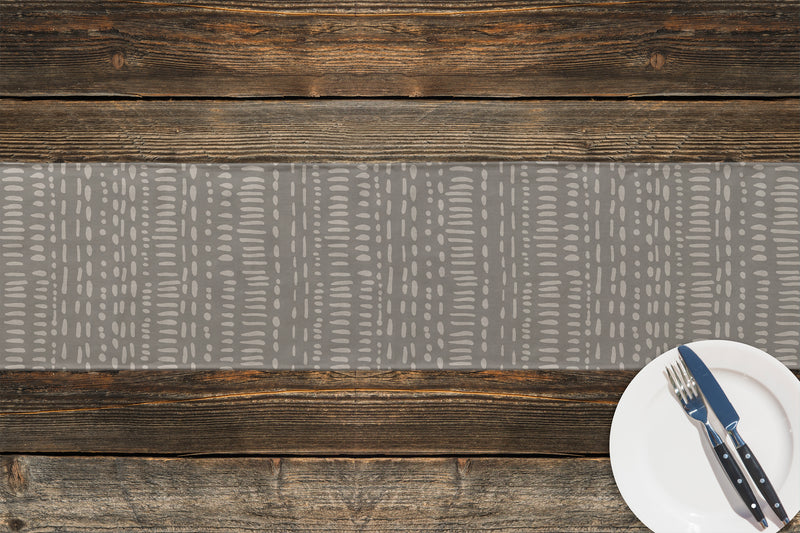 TRIBAL DANCE GREY Table Runner By Kavka Designs
