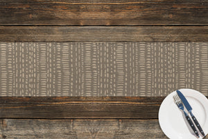 TRIBAL DANCE TAUPE Table Runner By Kavka Designs