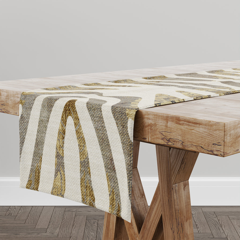 ZEBRA GOLD Table Runner By Marina Gutierrez