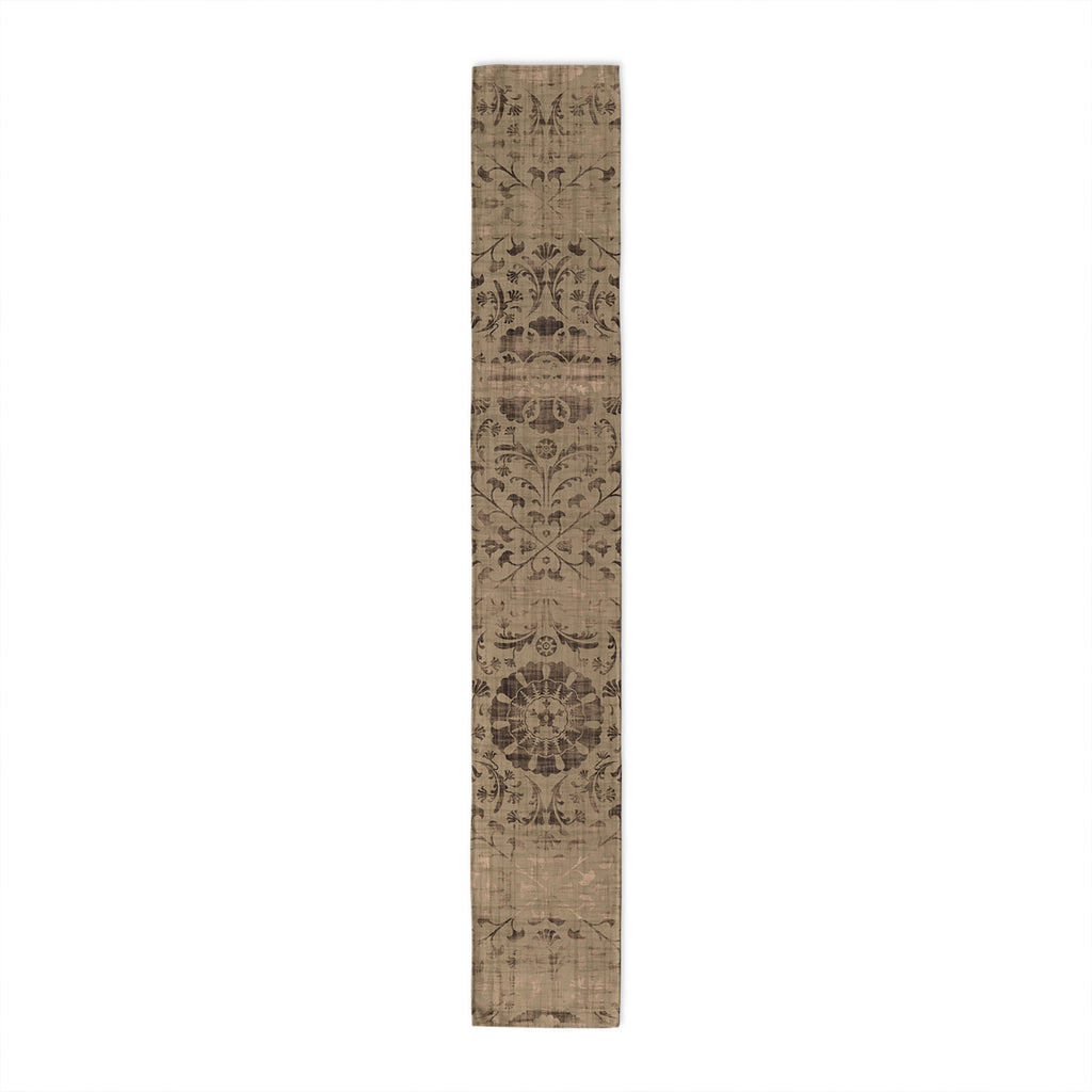 SUZANI DISTRESSED TAN Table Runner By Marina Gutierrez