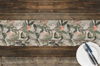 TROPICAL JUNGLE WHITE Table Runner By Marina Gutierrez