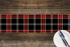 TARTAN BLACK AND RED Table Runner By Terri Ellis