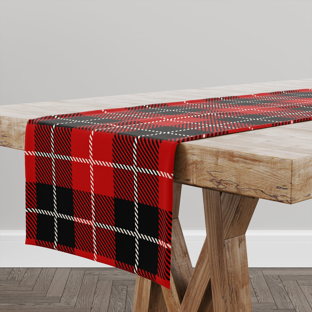 TARTAN RED AND BLACK Table Runner By Terri Ellis