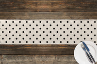 POLKA DOTS WHITE Table Runner By Terri Ellis