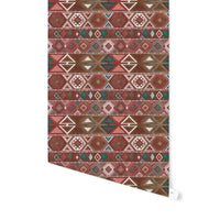 AZTEC TRIBAL SIENNA Peel and Stick Wallpaper By Becky Bailey