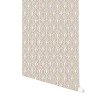 ART NOUVEAU BEIGE Peel and Stick Wallpaper By Becky Bailey