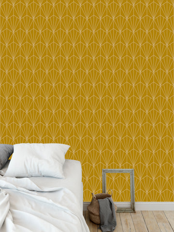 ART NOUVEAU GOLD Peel and Stick Wallpaper By Becky Bailey