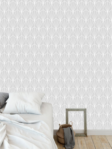 ART NOUVEAU GREY Peel and Stick Wallpaper By Becky Bailey