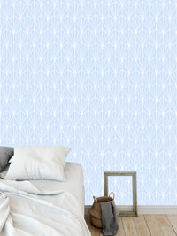 ART NOUVEAU LT BLUE Peel and Stick Wallpaper By Becky Bailey
