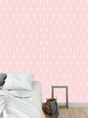 ART NOUVEAU PINK Peel and Stick Wallpaper By Becky Bailey