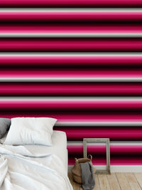 SERAPE STRIPES MAGENTA Peel and Stick Wallpaper By Becky Bailey