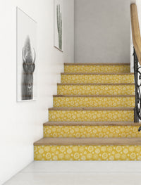 DOODLE FLORAL YELLOW Peel and Stick Wallpaper By Becky Bailey