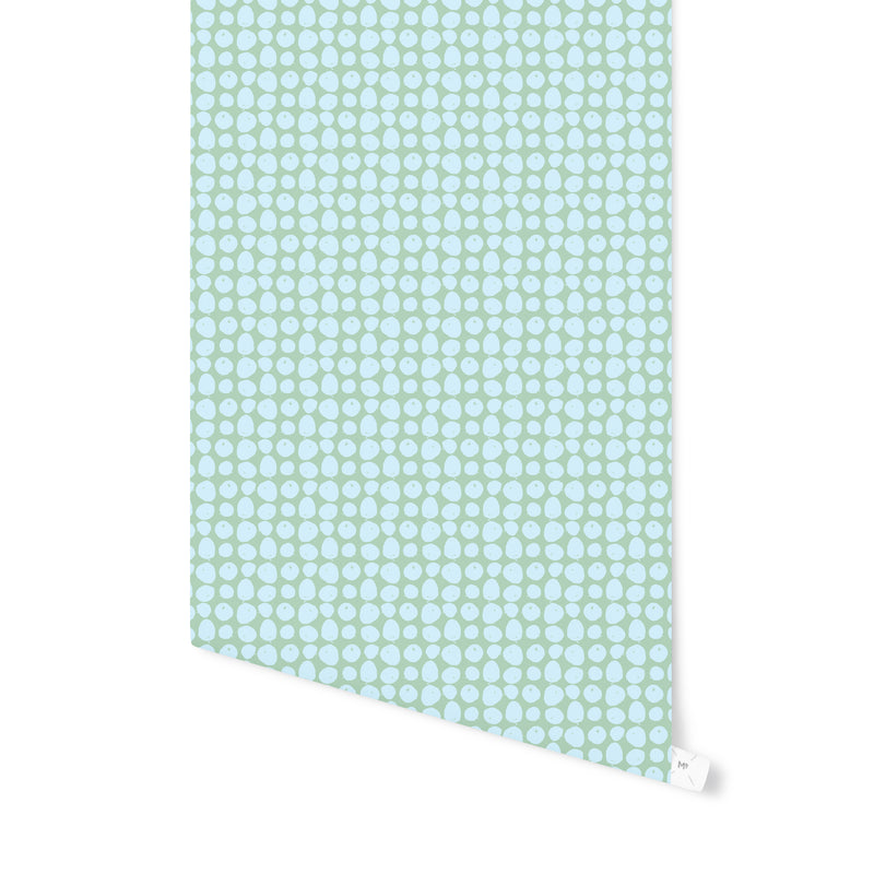 APPLES BLUE Peel and Stick Wallpaper By Hope Bainbridge