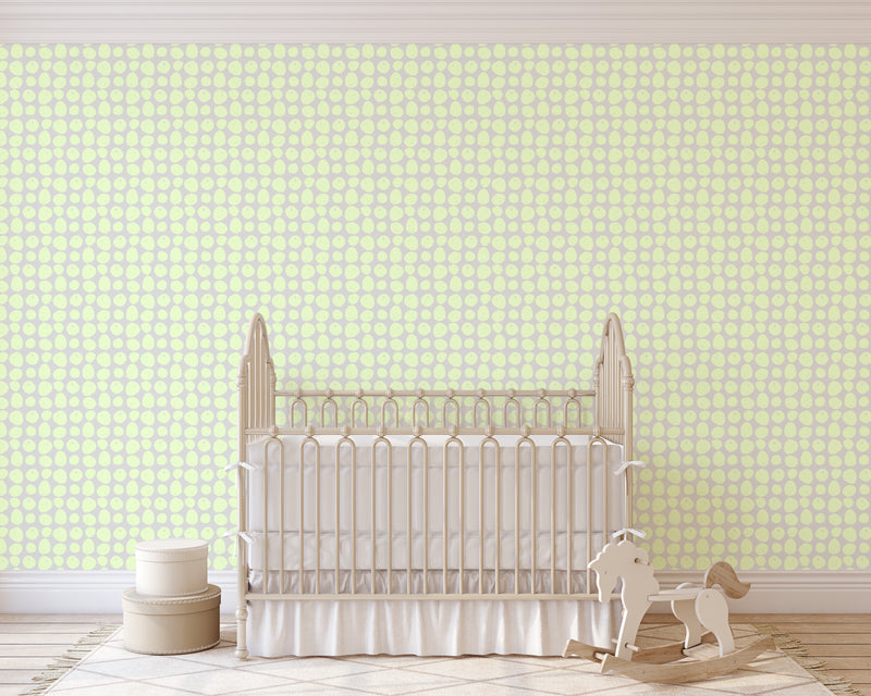 APPLES GREEN Peel and Stick Wallpaper By Hope Bainbridge