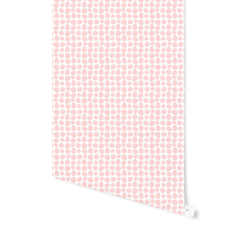 APPLES PINK Peel and Stick Wallpaper By Hope Bainbridge