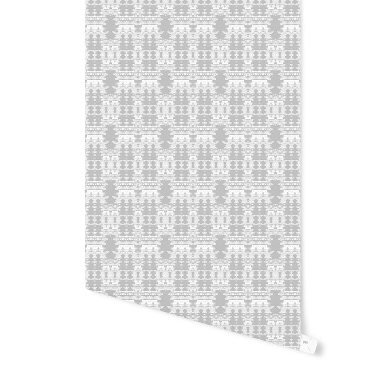 AZTEC DESERT SNOW Peel and Stick Wallpaper By Hope Bainbridge