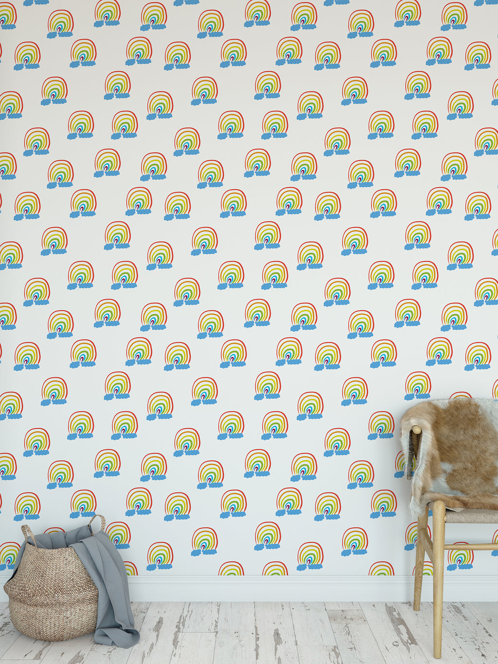 CREATIVITY IN THE CLOUDS Peel and Stick Wallpaper By Jackie Reynolds