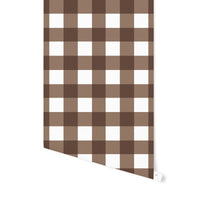 BARRETT BUFFALO CHECK BROWN Wallpaper By Terri Ellis