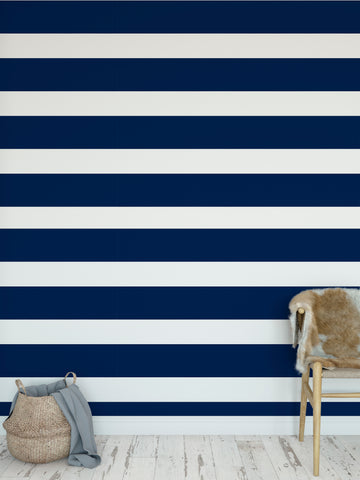 CENTERVILLE NAVY Peel and Stick Wallpaper By Terri Ellis