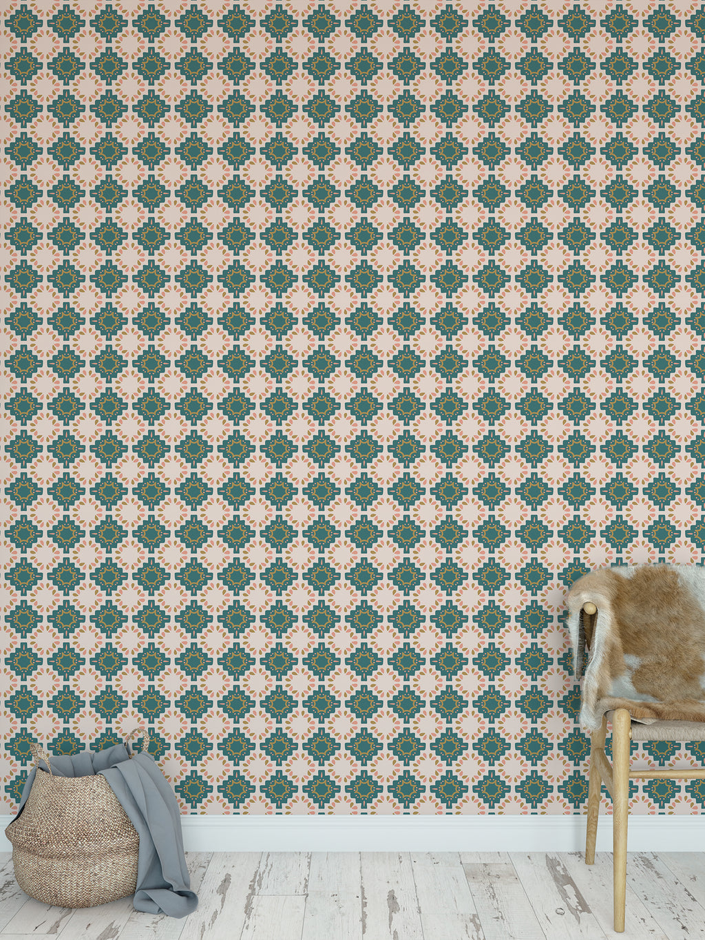 ESTRELLA JEWEL Peel and Stick Wallpaper By Tiffany Wong