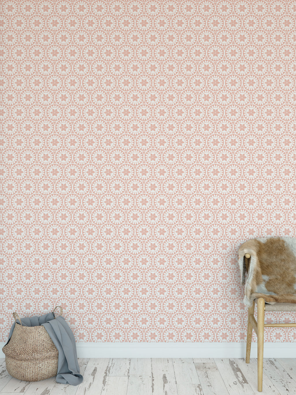 FREE SPIRIT CORAL Peel and Stick Wallpaper By Tiffany Wong