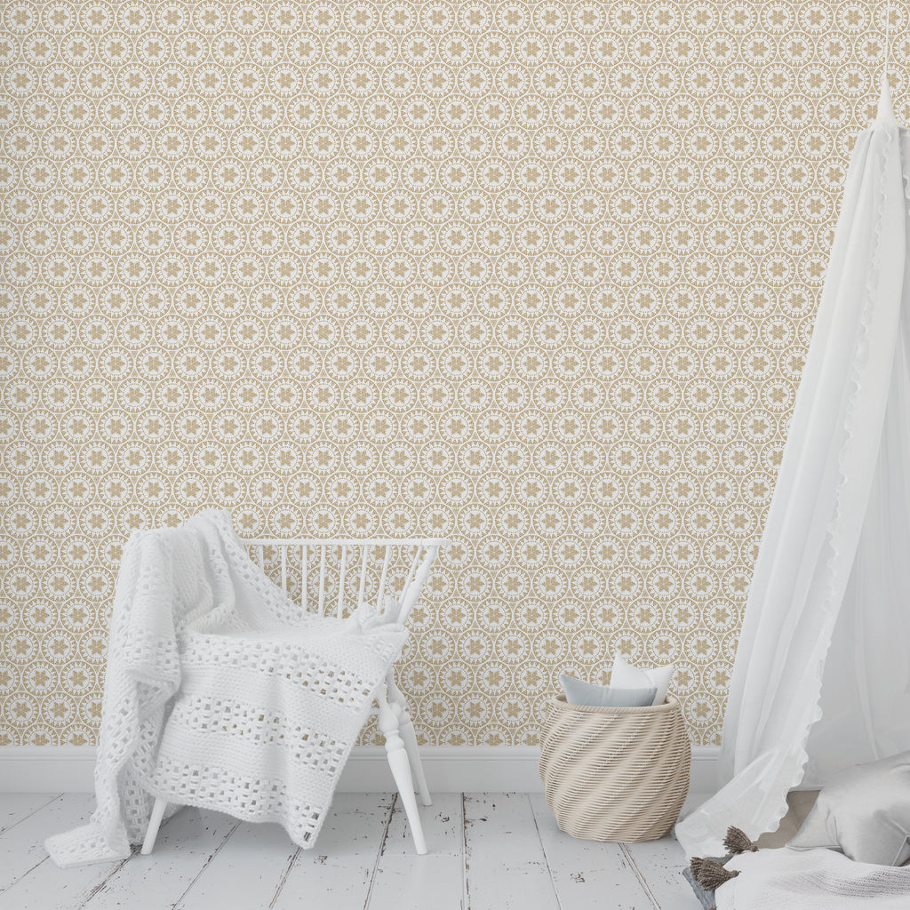 FREE SPIRIT GOLD Peel and Stick Wallpaper By Tiffany Wong