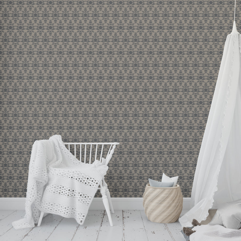 WAT CHARCOAL Peel and Stick Wallpaper By Tiffany Wong