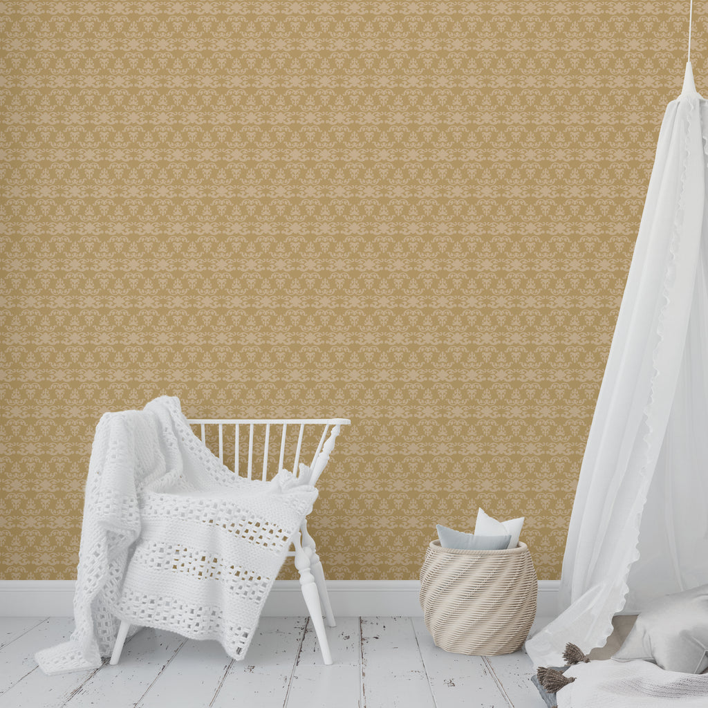 WAT GOLD Peel and Stick Wallpaper By Tiffany Wong