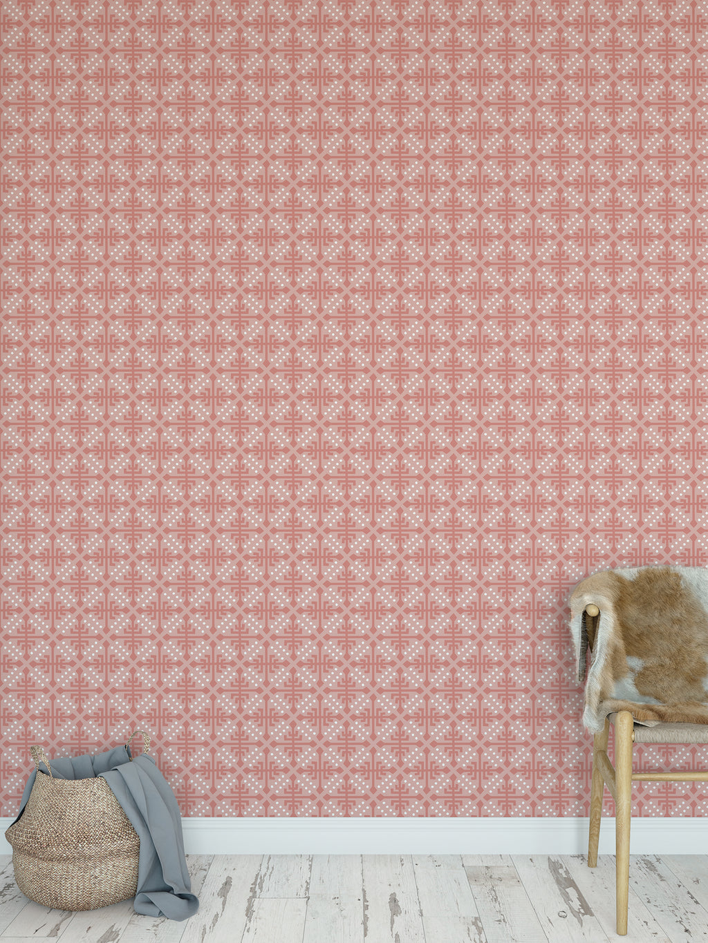WONDER CORAL Peel and Stick Wallpaper By Tiffany Wong