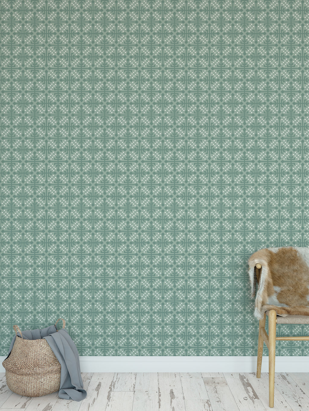 WONDER GREEN Peel and Stick Wallpaper By Tiffany Wong