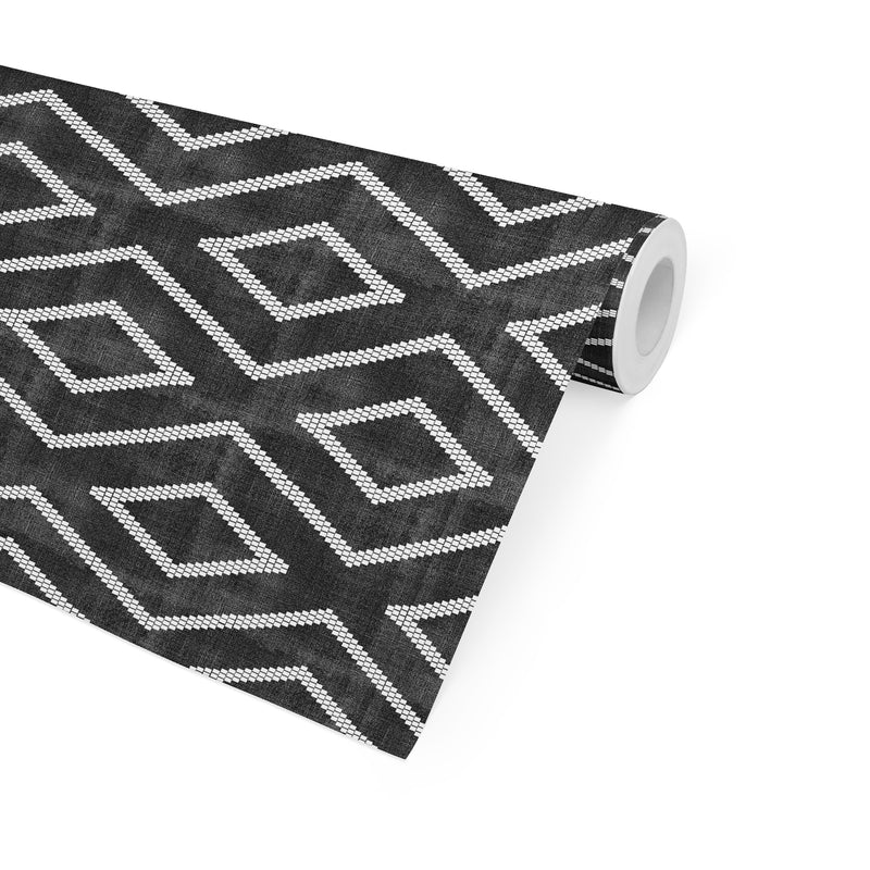 INCA TRIBAL BW Peel and Stick Wallpaper By Becky Bailey
