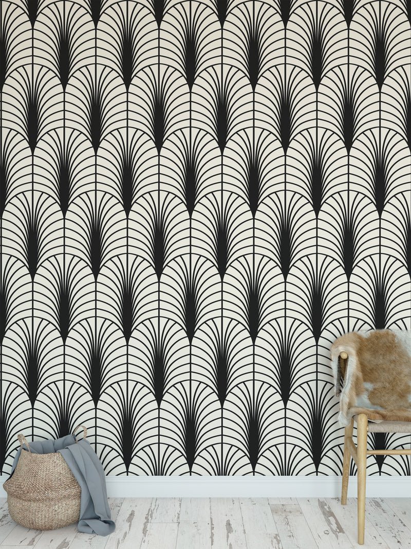 ARCHES BLACK & WHITE Peel and Stick Wallpaper By Becky Bailey