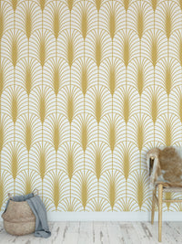 ARCHES GOLD Peel and Stick Wallpaper By Becky Bailey
