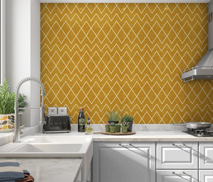 AVOCA GOLD Peel and Stick Wallpaper By Becky Bailey