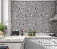VENEZIANA GRAY Peel and Stick Wallpaper By Marina Gutierrez