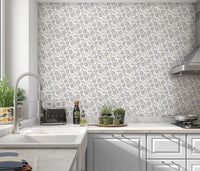 AVA IN GREY Peel and Stick Wallpaper By Terri Ellis