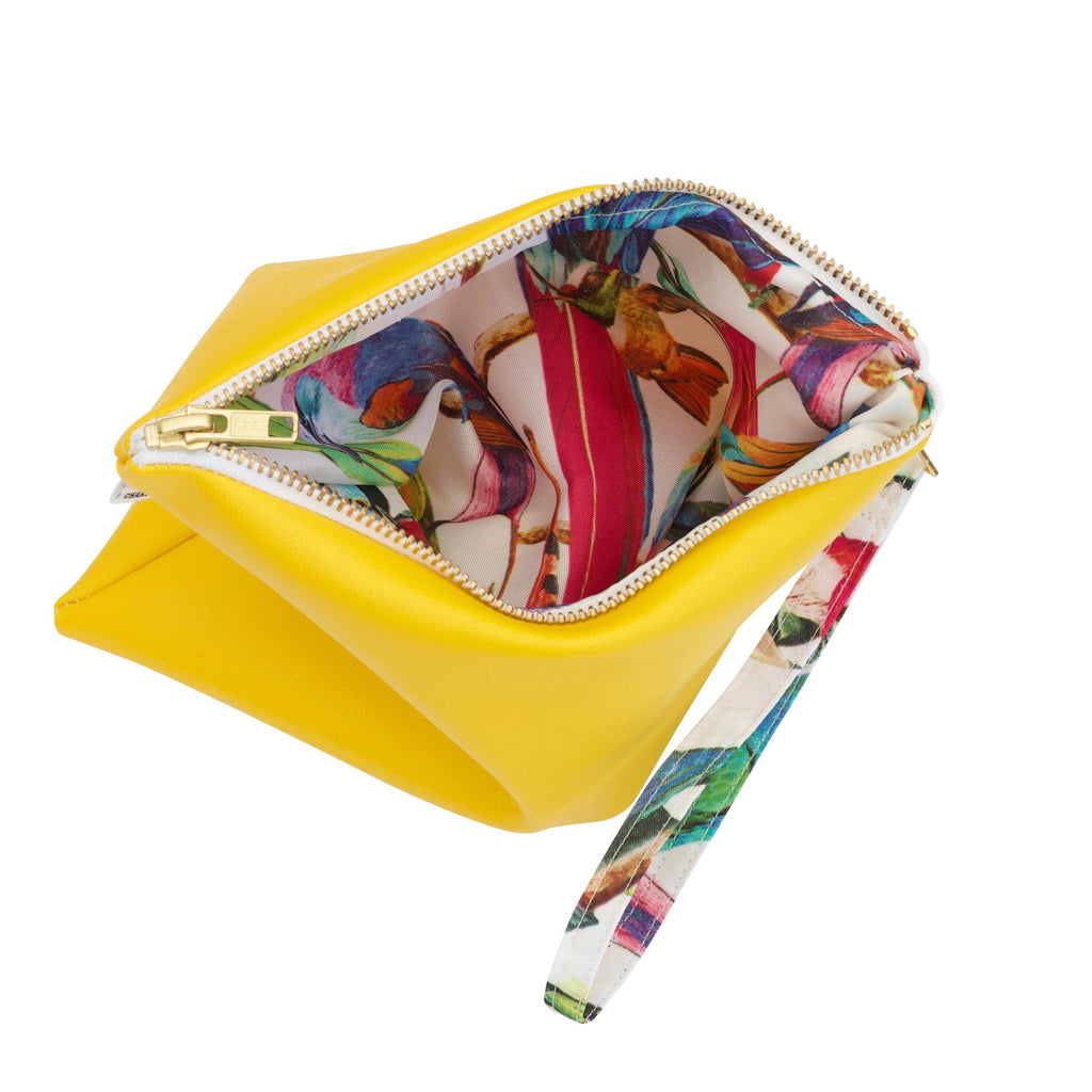 yellow bikini bag water resistant lining