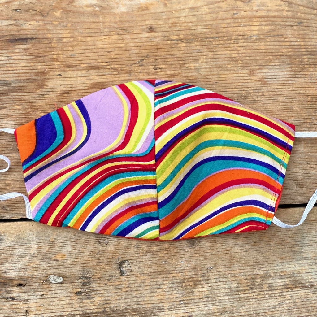 Abstract Stripe Fabric Face Mask | Small, Medium & Large