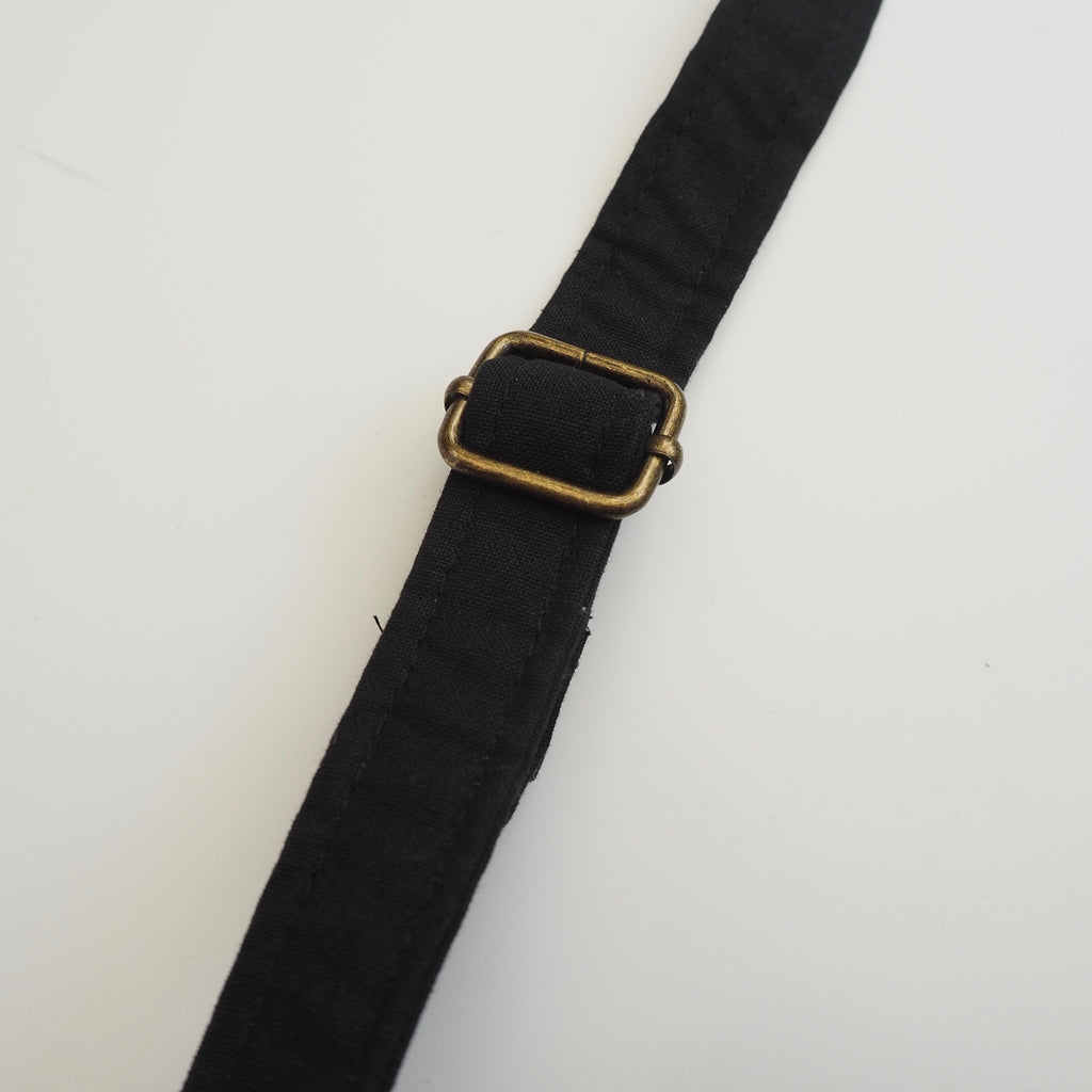 black Charlotte Luisa strap close up