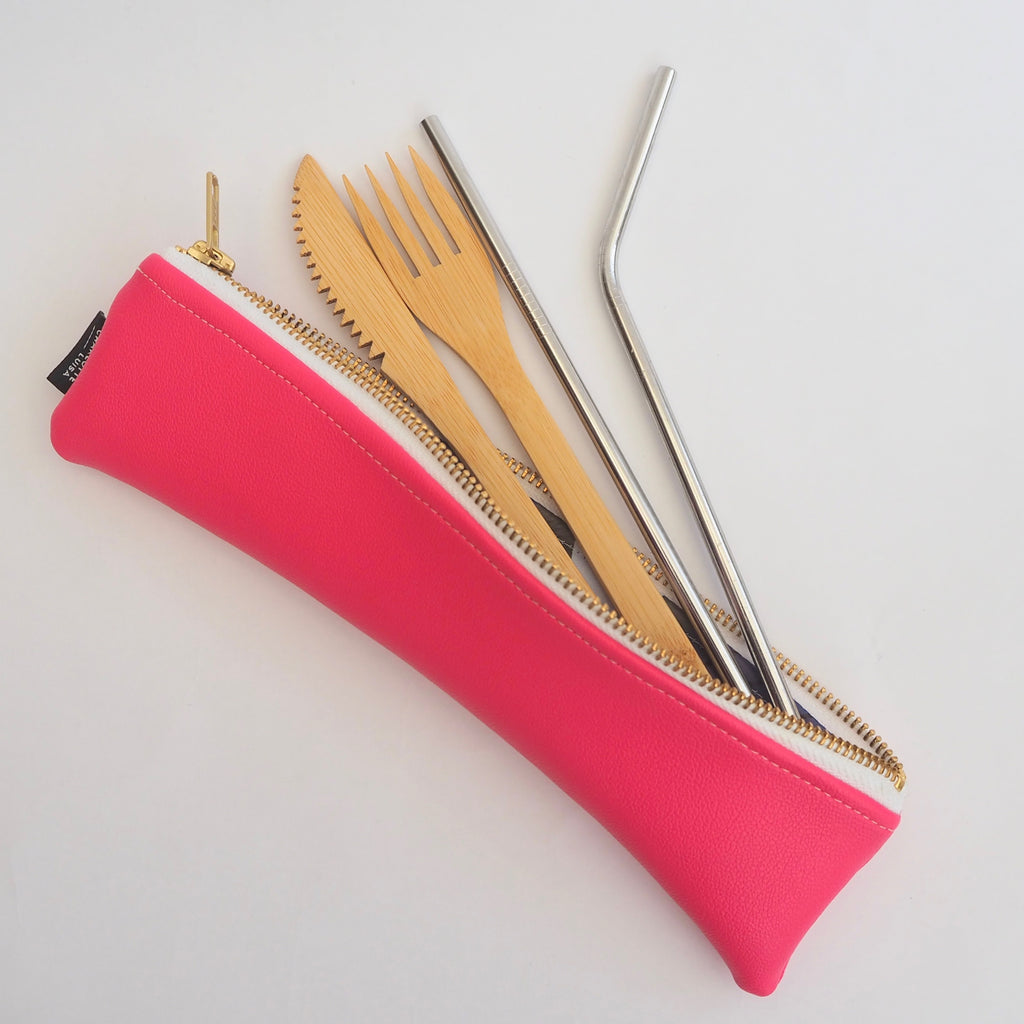 Bright Pink Reusables Pouch