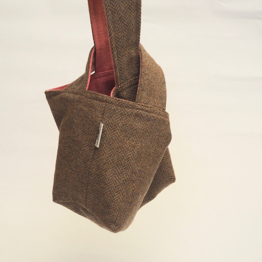 Knot Bag | Pink and Oatmeal Wool