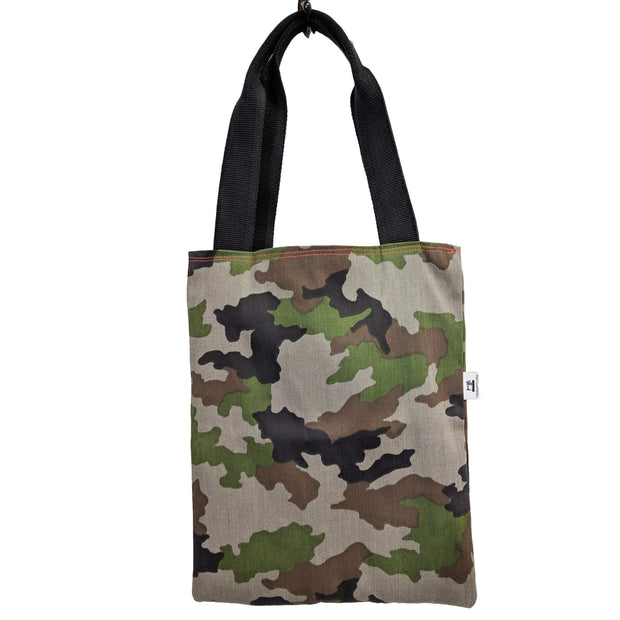 camouflage tote bag reusable shopper