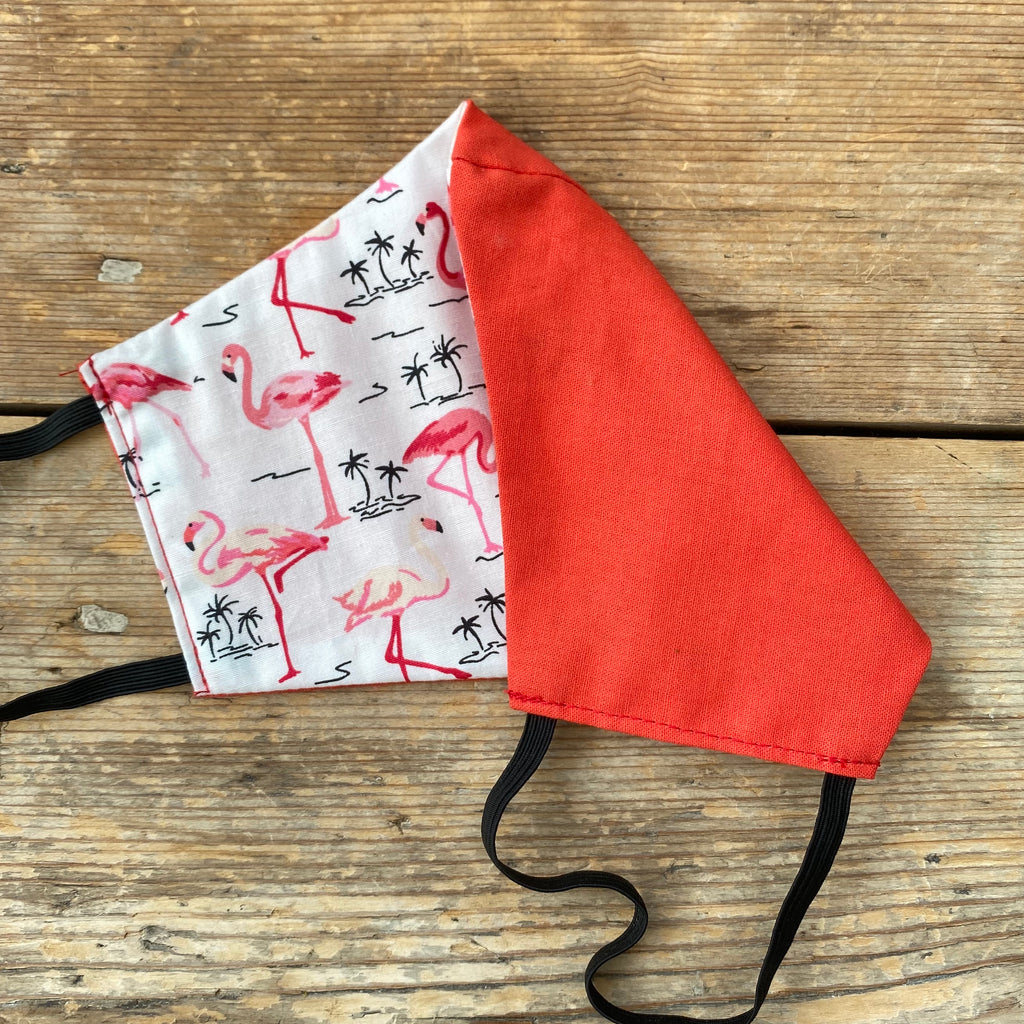 Flamingo & Coral Fabric Face Mask | Small, Medium | Limited Edition