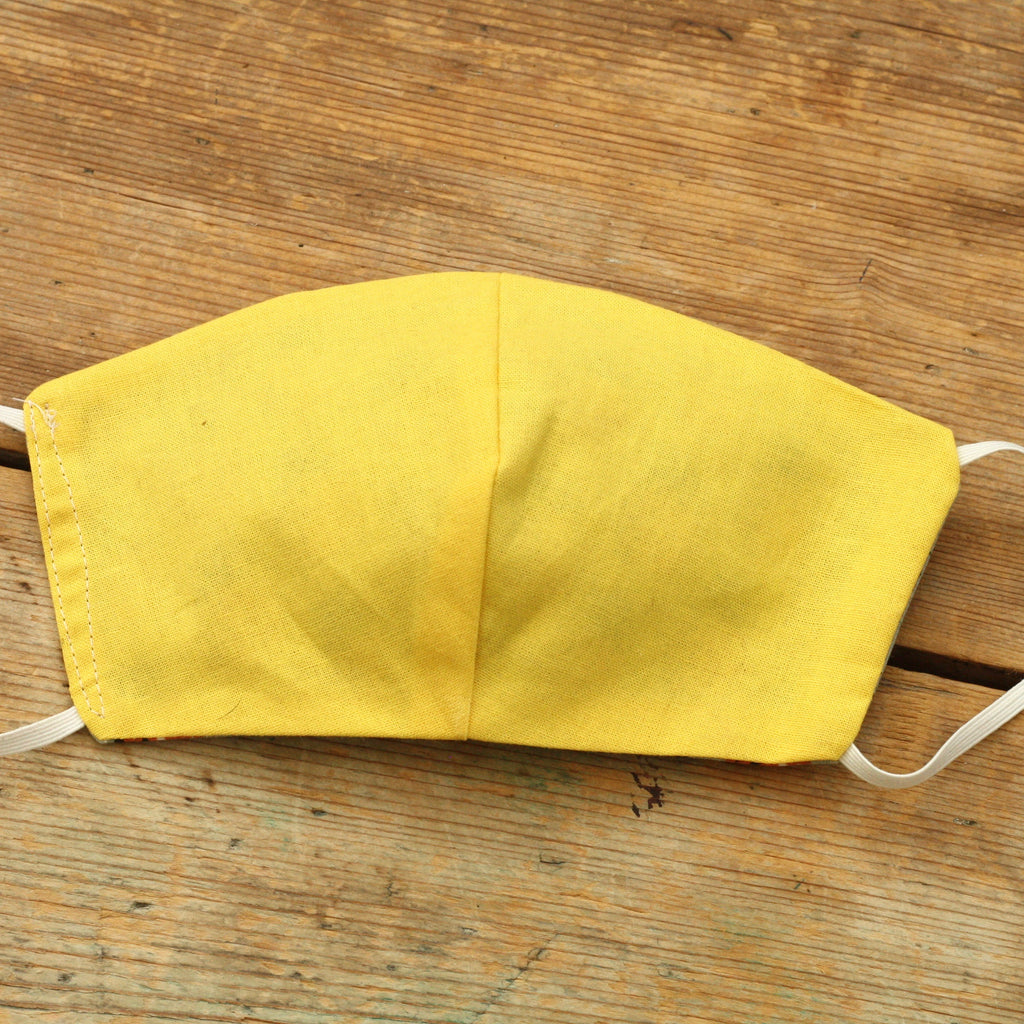 kids washable yellow face mask