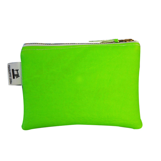neon green coin purse oyster card holder