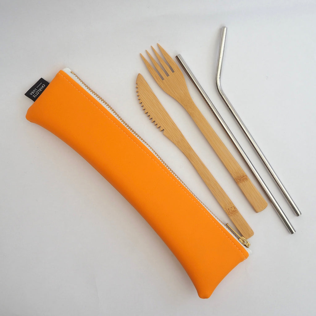 Orange Reusables Pouch