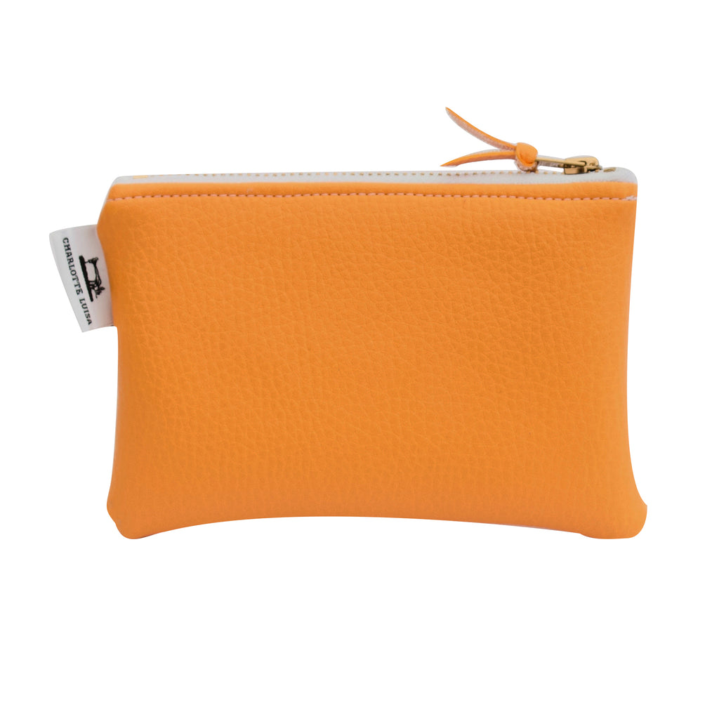 Orange Zip Purse