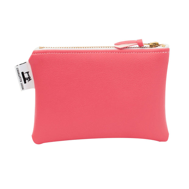 pink faux leather coin purse