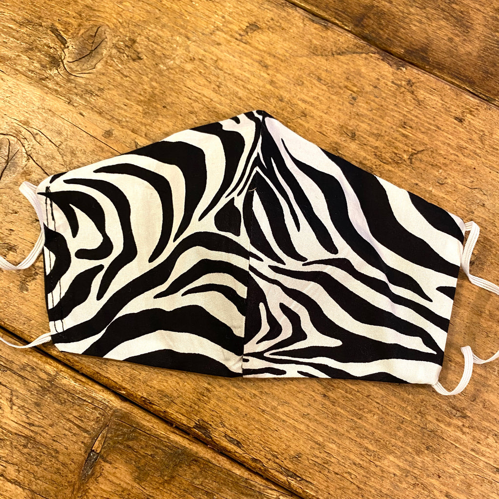 Zebra Animal Print Fabric Face Mask | Small, Medium & Large